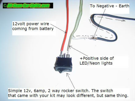 how to install interior car lights neon and led rh all neon car lights com install neon lights wiring a neon light switch